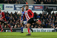 Tyler Walker of Lincoln City fails to convert the rebound from his saved penalty during Ipswich Town vs Lincoln City, Emirates FA Cup Football at Portman Road on 9th November 2019