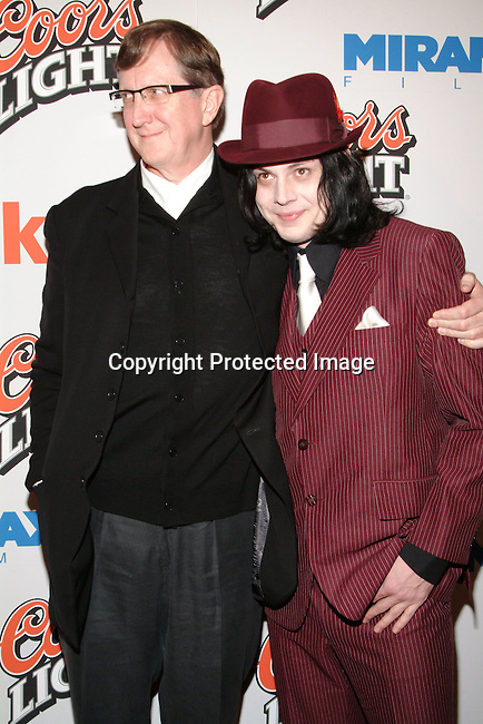 Music Producer T-Bone Burnett &amp; Jack White<br />&ldquo;Cold Mountain&rdquo; Premiere Los Angeles<br />Mann National Theater<br />Westwood, CA, USA<br />Sunday, December 07, 2003 <br />Photo By Celebrityvibe.com/Photovibe.com