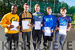 Oluwagbemileke Duyile (Tralee), Seamus Bradley (Scartaglin), Seamus Knightly who received 8 A's (Annuascaul), Nathan Comerford (Tralee) and Jeromie Finnegan (Firies) with Junior Cert results in CBS on Wednesday morning.