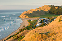 Sunrise on Kairakau Beach settlement, Hawke's Bay, East Coast, North Island, New Zealand, NZ
