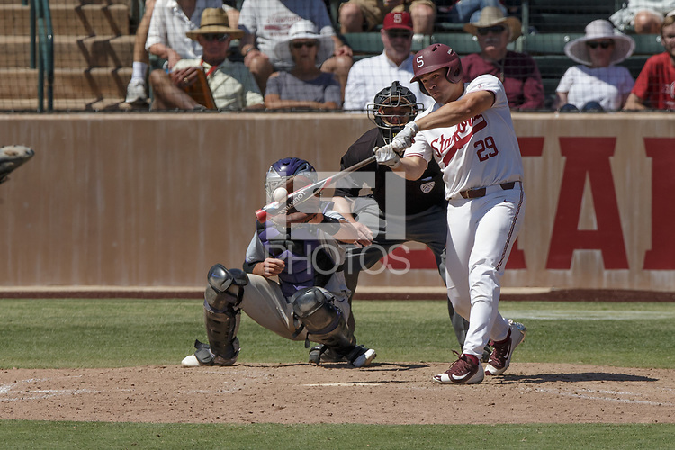 Stanford, CA - May 21, 2017:  Stanford Baseball defeats Washington 6-5 in 10 innings to cap Senior Day and the home finale for head coach Mark Marquess at Sunken Diamond.