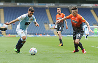 Blackburn Rovers' Adam Armstrong under pressure from Swansea City's Declan John<br /> <br /> Photographer Kevin Barnes/CameraSport<br /> <br /> The EFL Sky Bet Championship - Blackburn Rovers v Swansea City - Sunday 5th May 2019 - Ewood Park - Blackburn<br /> <br /> World Copyright © 2019 CameraSport. All rights reserved. 43 Linden Ave. Countesthorpe. Leicester. England. LE8 5PG - Tel: +44 (0) 116 277 4147 - admin@camerasport.com - www.camerasport.com