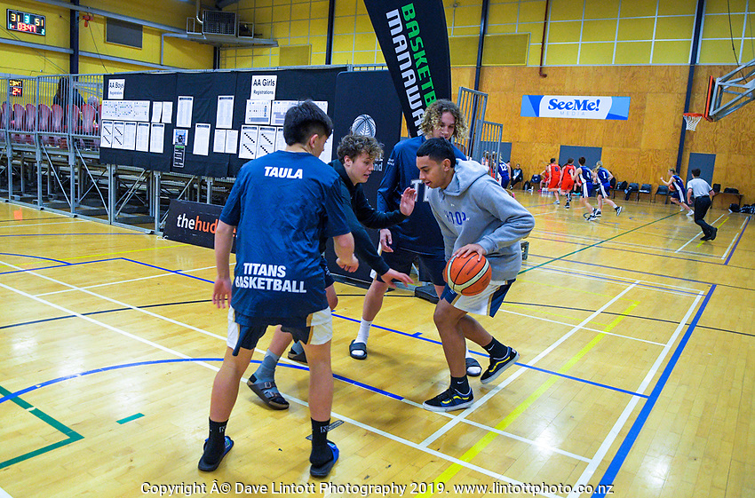 2019 Schick National Secondary Schools Basketball Championship finals at the Central Energy Trust Arena in Palmerston North, New Zealand on Saturday, 5 October 2019. Photo: Dave Lintott / lintottphoto.co.nz