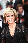 Cannes Film Festival 2018 - 71st edition - Day 6 - May 13 in Cannes, on May 13, 2018;US actress Jane Fonda  ;