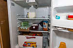 WATERBURY, CT. 18 July 2019-071819 - A refrigerator is  stocked up with supplies at the Center of Human Development Hospitality Center in Waterbury on Thursday. The hospitality center with be a cooling center for people to escape this weekends predicted dangerous heat . Bill Shettle Republican-American