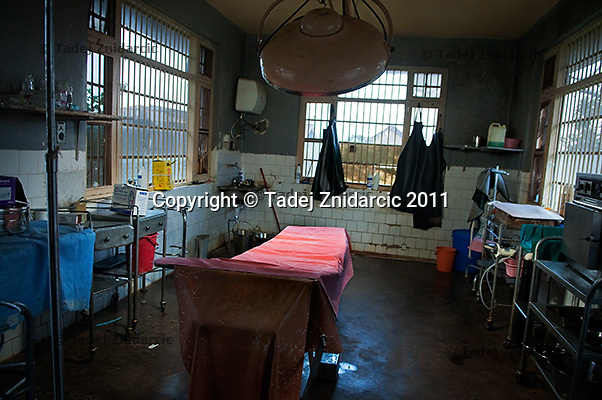 Operating room in Mityana Hospital, Uganda. Many hospitals lack basic equipment and patients often have to buy medical supplies.