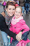 Sandra and Keelin Walsh, Tralee, pictured at the Rose of Tralee parade on Sunday afternoon last.