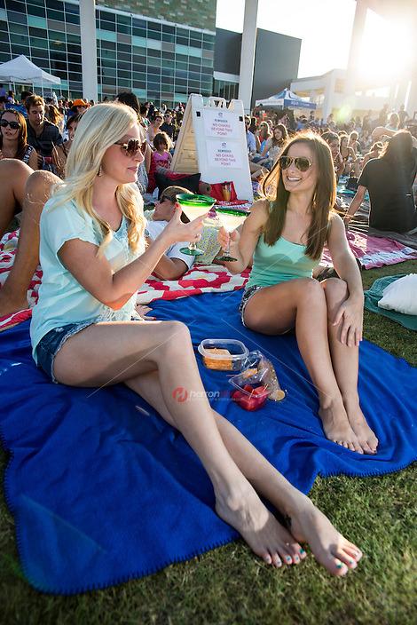 Summertime outdoor live music and movies events are a popular summer activity in Austin, Texas.