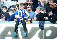 Blackburn Rovers fans during the match against Bristol Rovers<br /> <br /> Photographer Ashley Crowden/CameraSport<br /> <br /> The EFL Sky Bet League One - Bristol Rovers v Blackburn Rovers - Saturday 14th April 2018 - Memorial Stadium - Bristol<br /> <br /> World Copyright &copy; 2018 CameraSport. All rights reserved. 43 Linden Ave. Countesthorpe. Leicester. England. LE8 5PG - Tel: +44 (0) 116 277 4147 - admin@camerasport.com - www.camerasport.com