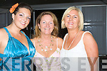..FAMILY: Doireann barrett,Pauline Barrett and DEichne Redmond having a great craic at the Rose of Tralee Rose Ball on Friday night... ....