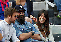 L'attrice Alessandra Mastronardi, a destra, in tribuna al Campo Centrale del Foro Italico durante gli Internazionali d'Italia di tennis a Roma, 16 maggio 2015. <br /> Italian actress Alessandra Mastronardi, right, sits on the stand of the Central Court during the Italian Open tennis tournament in Rome, 15 May 2015.<br /> UPDATE IMAGES PRESS/Riccardo De Luca