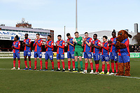 Dagenham players with a minute of applause in memory of Jodie Chesney during Dagenham & Redbridge vs Bromley, Vanarama National League Football at the Chigwell Construction Stadium on 9th March 2019