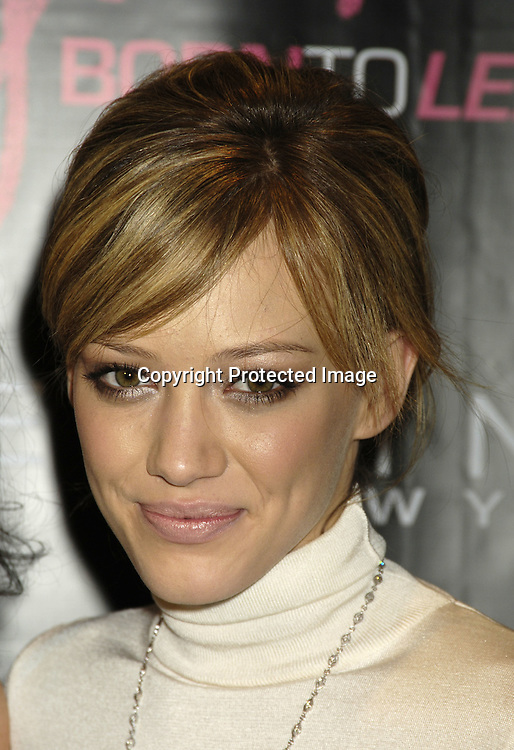 Hilary Duff ..at the CosmoGIRL luncheon celebrating future leaders with its annual Born To Lead awards on November 8, 2005 at The Atlman Building. ..Photo by Robin Platzer, Twin Images