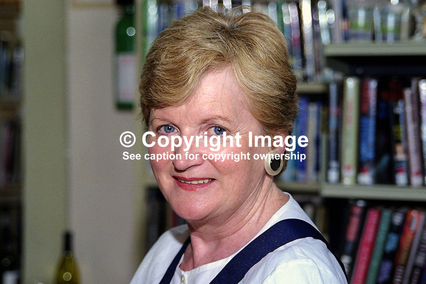 Maura McTighe, member, Yeats Council, former president, at Yeats Summer School, Sligo, Rep of Ireland. 199908019..<br /> <br /> Copyright Image from Victor Patterson,<br /> 54 Dorchester Park, <br /> Belfast, UK, BT9 <br /> <br /> t1: +44 28 9066 1296 (from Rep of Ireland 048 90661296)<br /> t2: +44 28 9002 2446 (from Rep of Ireland 048 9002 2446)<br /> <br /> m: +44 7802 353836<br /> <br /> e: victorpatterson@me.com<br /> www.victorpatterson.com<br /> <br /> Please see my Terms and Conditions of Use at www.victorpatterson.com. It is IMPORTANT that you familiarise yourself with them.<br /> <br /> Images used on the Internet must be visibly watermarked i.e. &copy; Victor Patterson<br /> within the body of the image and copyright metadata must not be deleted. Images <br /> used on the Internet have a size restriction of 4kbs and will be chargeable at current<br />  NUJ rates unless agreed otherwise.<br /> <br /> This image is only available for the use of the download recipient i.e. television station, newspaper, magazine, book publisher, etc, and must not be passed on to any third <br /> party. It is also downloaded on condition that each and every usage is notified within 7 days to victorpatterson@me.com<br /> <br /> The right of Victor Patterson to be identified as the author is asserted in accordance with The Copyright Designs And Patents Act (1988). All moral rights are asserted.