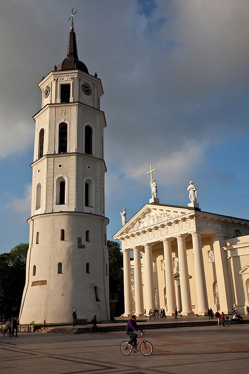 Cathedral Square in Old Town- Vilnius, Lithuania
