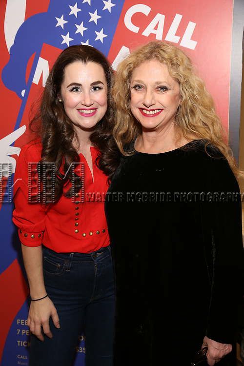 "Lauren Worsham and Carol Kane attends the closing Night performance reception for Encores! ""Call Me Madam"" at City Center on February 10, 2019 in New York City."