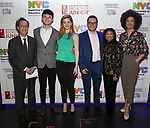 Phil Weinberg, Charlie Stemp, Molly Griggs, Peter Avery, Baayork Lee and Sasha Hutchings backstage at The Fourth Annual High School Theatre Festival at The Shubert Theatre on March 19, 2018 in New York City.