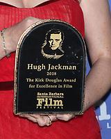 LOS ANGELES - NOV 19:  Hugh Jackman's Kirk Douglas Award at the SBIFF Kirk Douglas Award Honoring Hugh Jackman at the RItz Carlton Bacara on November 19, 2018 in Santa Barbara, CA