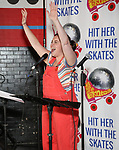 """Amy Toporek attends the Special Musical Presentation for """"Hit Her WithThe Skates"""" at the Bowlmor Times Square on October 16, 2018 in New York City."""
