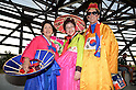 South Korea fans (KOR),<br /> JUNE 17, 2014 - Football / Soccer :<br /> South Korea fans wear traditional costume before the FIFA World Cup Brazil 2014 Group H match between Russia 1-1 South Korea at Arena Pantanal in Cuiaba, Brazil. (Photo by SONG Seak-In/AFLO)