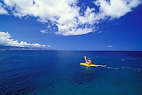 Kayaking near Shark's Cove, North Shore, Oahu