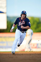 Binghamton Mets outfielder Jared King (24) running the bases during a game against the Trenton Thunder on August 8, 2015 at NYSEG Stadium in Binghamton, New York.  Trenton defeated Binghamton 4-2.  (Mike Janes/Four Seam Images)