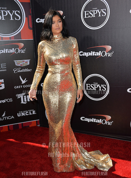 Kylie Jenner at the 2015 ESPY Awards at the Microsoft Theatre LA Live.<br /> July 15, 2015  Los Angeles, CA<br /> Picture: Paul Smith / Featureflash