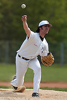 25 April 2010: Giacomo Baroni of the PUC pitches against Rouen during game 2/week 3 of the French Elite season won 12-0 by Rouen over the PUC, at the Pershing Stadium in Vincennes, near Paris, France.