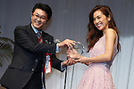 Anne Nakamura, Oct 6, 2015 : Winners of The 28th Japan Best Dressed Eyes Awards were announced at Tokyo Big Site on October 6, 2015. Celebrities, politicians and businessmen with outstanding eyewear fashion sense were presented with the award. (Photo by Sho Tamura/AFLO)