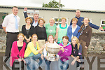 TEACHERS: Teachers from Blennerville NS on Thursday got to get grips of the Sam Maguire Cup on Thursday with Kieran Donaghy and Michael Quirke of the victorious kerry team looking on. Frontr l-r: Deirdre Poff, Edel Coen, Catherine O'Shea, Noreen Sugrue, and Nicole James. Back l-r: Kieran Donaghy, Liz O'Connor, Mike O'Connor 9principal), Cathy Hogan, Marie Flaherty, Aine Quinn, Helen Sugrue, Michael Quirke and Louise Brassil...
