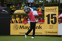 Julien Quesne (FRA) had a mixed bag for a par and T5 during the Final Round of the 2014 Maybank Malaysian Open at the Kuala Lumpur Golf & Country Club, Kuala Lumpur, Malaysia. Picture:  David Lloyd / www.golffile.ie