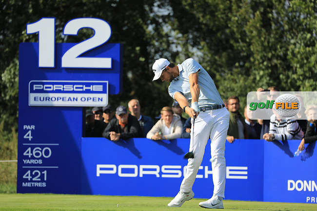 Thomas Pieters (BEL) during the second round of the Porsche European Open , Green Eagle Golf Club, Hamburg, Germany. 06/09/2019<br /> Picture: Golffile | Phil Inglis<br /> <br /> <br /> All photo usage must carry mandatory copyright credit (© Golffile | Phil Inglis)