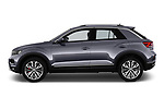 Car driver side profile view of a 2018 Volkswagen T-Roc Elegance 5 Door SUV