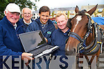 Martin McCarthy, Pat O'Sullivan, Gearoid Kearney and Mike Sweetman, Killarney Horse and Carriage tours who have launched their website www.killarneyhorseandcarriagetours.com...