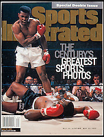 BNPS.co.uk (01202 558833)<br /> Pic: Heritage/BNPS<br /> <br /> Sports Illustrated voted this picture one of the last century's greatest.<br /> <br /> The gloves are off...Heavyweight tussle expected for &pound;350,000 gloves.<br /> <br /> For sale - the gloves worn by Ali and Liston in the famous 1965 &ldquo;Phantom Punch&rdquo; bout in Lewiston, Maine. - the most controversial sports event in history <br /> <br /> The gloves have been consigned by Los Angeles collector Seth Ersoff, who acquired the pair from the family of the boxing commissioner for the state of Maine in 1965, who seized the gloves at the bout&rsquo;s scandalous end &ndash; Ali&rsquo;s &ldquo;Phantom Punch&rdquo; &ndash; just under two minutes into the first round.<br /> <br /> Speculation as to whether Liston was made to take a dive by his underworld connections continues to this day, making the fight one of the most controversial in history.<br /> <br /> New York - Heritage - 21st Feb - &pound;350,000