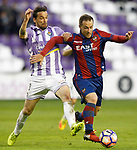 Real Valladolid's Andre Leao (l) and Levante UD's Paco Montanes during La Liga Second Division match. March 11,2017. (ALTERPHOTOS/Acero)