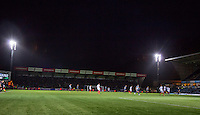 General view of play during the Sky Bet League 2 match between Wycombe Wanderers and Portsmouth at Adams Park, High Wycombe, England on 28 November 2015. Photo by Andy Rowland.