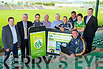 Pictured at the launch of the new Kerry GAA Website and iPhone app were Senior Kerry Footballers Marc O'Shea and Barry John Keane and Kerry County Board Chairman Patrick O'Sullivan.