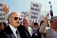 FILE -<br /> Jacques Parizeau au defile de la st-Jean 1990<br /> <br /> <br /> PHOTO  : Pierre Roussel - Agence Quebec Presse