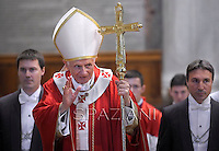 Pope Benedict XVI celebrates a holy mass in memory of cardinals and bishops who died this year, at the St. Peter's Basilica at the Vatican, on November 3, 2012.