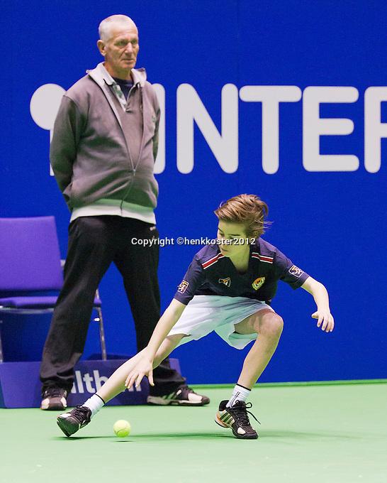 11-12-12, Rotterdam, Tennis, Masters 2012, Ballboy and linesman