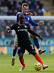 James Maddison of Leicester City challenges N'Golo Kante of Chelsea during the Premier League match at the King Power Stadium, Leicester. Picture date: 1st February 2020. Picture credit should read: Darren Staples/Sportimage