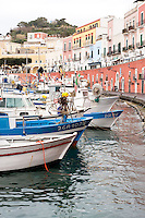 Fishing boats in the Port of Ponza, Ponza island, Italy