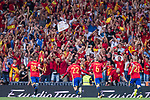 Isco (L2) of Spain celebrates after scoring his goal  during their 2018 FIFA World Cup Russia Final Qualification Round 1 Group G match between Spain and Italy on 02 September 2017, at Santiago Bernabeu Stadium, in Madrid, Spain. Photo by Diego Gonzalez / Power Sport Images