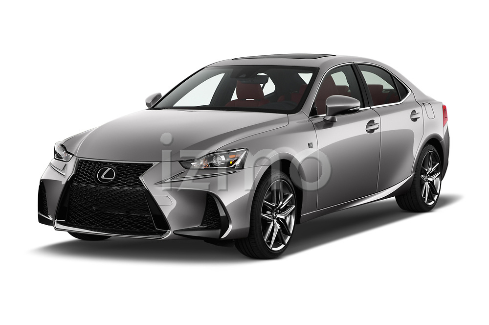 2017 Lexus IS 350 4 Door Sedan Angular Front stock photos of front three quarter view