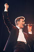 David Bowie  - performing live on the Sound+Vision Tour at the Palace in Auburn Hills Michigan USA -1990.  Photo credit: Ken Settle/Dalle/IconicPix **UK ONLY**