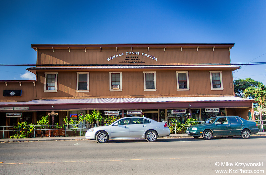 Kohala Trade Center building, Kapa'au, Big Island, Hawaii