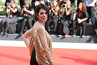 "VENICE, ITALY - September 01:  Sarah Felberbaum walks the red carpet of ""The New Pope"" screening during the 76th Venice Film Festival  on September 01, 2019 in Venice, Italy. (Photo by Mark Cape/Inside Foto)<br /> Venezia 01/09/2019"