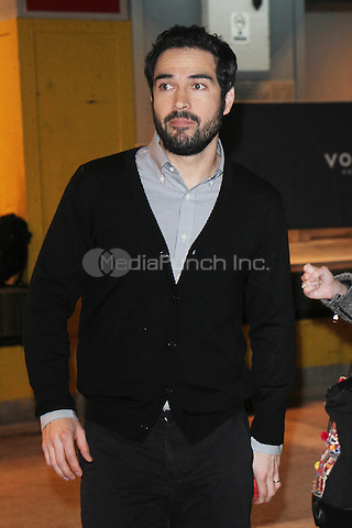 NEW YORK, NY - DECEMBER 7: Alfonso Herrera seen at AOL Build in New York City on December 7, 2016. Credit: RW/MediaPunch