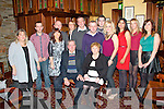Pictured here at the birthday dinner of Jim and Mary Dalton of Duagh, which was held in Leen's Hotel, Abbeyfeale on Saturday night are : Back Row L-R Margaret Lane of Abbeyfeale, Maurice Dalton, Dermot Breen both of Duagh, Mary Healy of Abbeyfeale, Mike Dalton, James Dalton, Sam Charles all of Duagh, Julie McCoy of Abbeyfeale and Maura Dalton of Duagh.  Middle Row L-R Elaine Breen, Patrick and Jennifer Dalton of Duagh.  Front Row L-R Jim and Mary Dalton of Duagh.